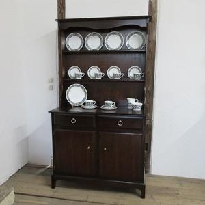 イギリス アンティーク 家具 スタッグ ドレッサー カップボード キャビネット 飾り棚 食器棚 収納 木製 英国 COPBOARD 6143c