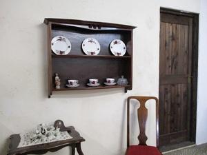 イギリス アンティーク 家具 SALE セール ウォールシェルフ スパイスラック シェルフ 飾り棚 木製 英国 OTHERFUNITURE 6149b特価