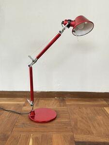 yamagiwa ヤマギワ Artemide アルテミデ TOLOMEO MICRO RED トロメオ ミクロ レッド デスクライト テーブル ランプ 照明 ルイス ポールセン