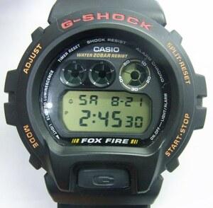 CASIO カシオ☆G-SHOCK Gショック デジタル 腕時計 FOX FIRE 3230 DW-6900B クォーツ☆稼働品 美品☆M9640821