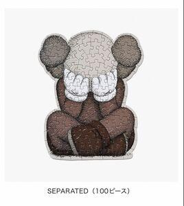 KAWS TOKYO FIRST PUZZLE パズル 100 pieces SEPARATED カウズ トウキョウ ファースト be@rbrick medicomtoy ベアブリック メディコムトイ