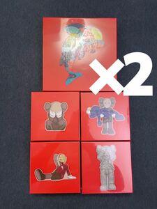 KAWS TOKYO FIRST パズル 5種セット カウズ トウキョウ ファースト be@rbrick medicomtoy ベアブリック メディコムトイ ×2