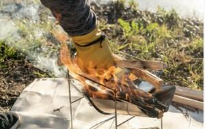 高機能 キャンプ DIY 耐火 撥水 防寒 防刃 グローブ