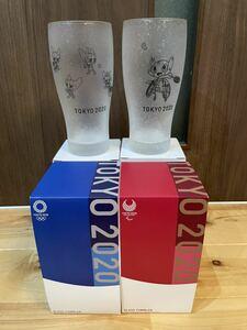 東京2020 オリンピック ガラスタンブラー グラス ミライトワ ソメイティ