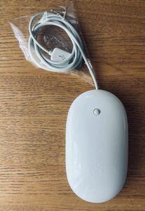 【完動品】Apple Mighty Mouse A1152アップル マイティマウス クリーニング済品 MacOSⅩ&Windows7、10確認済み ケーブルロングバージョン