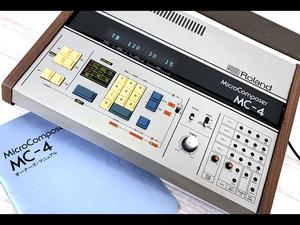 3R0449●Roland MC-4 MC-4B マイクロコンポーザー 4chデジタルシーケンサー 取扱説明書付き ローランド●0824