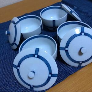 白山陶器 森正洋 蓋付き湯呑み茶碗 4客セット