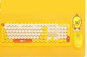 Keyboard 可愛い キーボード+マウス セット ワイヤレス