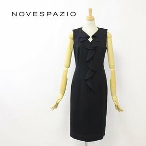 ◆NOVESPAZIO/ノーベスパジオ フリル ノースリーブ ワンピース ブラック 38