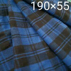 送料無料【コットンネル生地 綿100% 約長さ190㎝×55㎝ 起毛】ハギレ,カットクロス/小物やストール,ブランケット,インテリアカバー類…