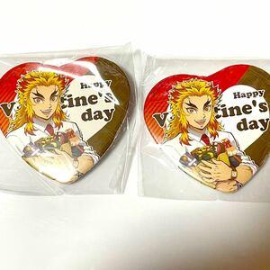 鬼滅の刃 鬼滅祭 キメツ学園 バレンタイン編 煉獄杏寿郎ハート型缶バッジ 2個セット キメ学 煉獄先生