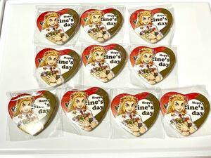 鬼滅の刃 鬼滅祭 キメツ学園 バレンタイン編 煉獄杏寿郎ハート型缶バッジ 10個セット キメ学 煉獄先生