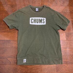 チャムス CHUMS 半袖スウェット ロゴTシャツ