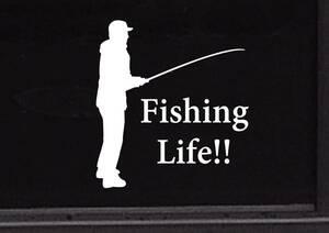 フィッシング 釣り 魚釣り 海 海釣り 川 川釣り ルアーフィッシング アウトドア◆オリジナルステッカー◆