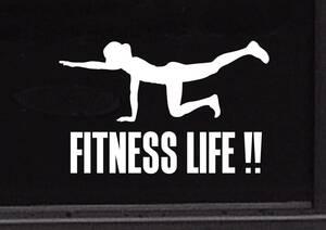 フィットネス・トレーニング・ジム スポーツジム ダイエット 健康4◆オリジナルステッカー