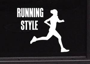 ランニング ジョギング トレーニング マラソン ダイエット 健康 レジャー◆オリジナルステッカー◆