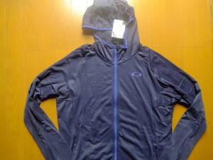 オークリー メンズXL 長袖薄フード付きストレッチパーカ 紺系 461597JP 新品 定価8900