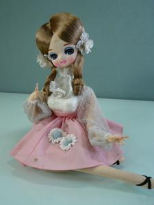 ポーズ人形 お座り 昭和レトロ フランス人形 インテリア コレクション ビンテージドール アンティーク