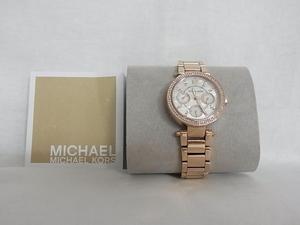 MICHAEL KORS マイケルコ-スクオ-ツ時計サイズ33mm:共箱入使用書有り:新品では御座いませんが未使用品の用です各風防&裏面シ-ル有り