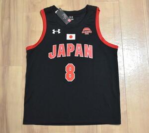 【即決】新品 UNDER ARMOUR製 バスケットボール 日本代表 AKATSUKI FIVE ユニフォーム #8 八村塁 XXL ◆ ジャージ ゲームシャツ