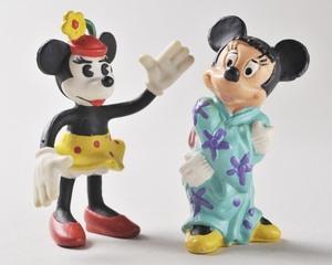 ●ビンテージ ミニーマウス PVCフィギュア ベンダブルフィギュア ドイツ ディズニー くねくね人形