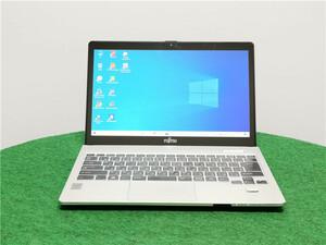 カメラ内蔵/中古/13.3型タッチパネル2K/ノートPC/Windows10/新品SSD256/4GB/i5 4200U /リカバリー領域/FMV FUJITSU SH90/M office搭載