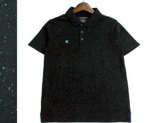 R.NEWBOLD ポールスミス ネップコットン半袖ポロシャツ カジュアル ゴルフにも サイズM 0812b
