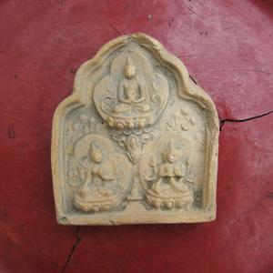 仏教美術 チベット仏教の磚仏 テラコッタ 奉納仏 板仏