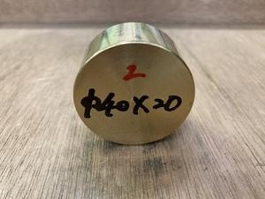Φ40×20mm ② □ 真鍮丸棒 C3604 カドミレス 黄銅 金属材料 端材 残材 DIY ハンドメイド