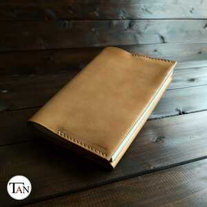 [ Tochigi leather . made cow leather. book cover ] library book@ size cow leather leather original leather raw . simple hand made handmade natural