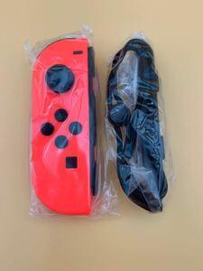 Nintendo switch ニンテンドースイッチ Joy-Con ジョイコン (L) ネオンレッド ストラップ付き