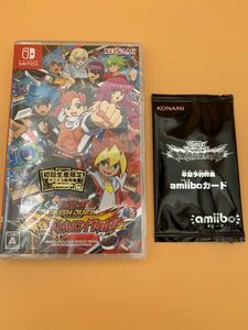 Switch 遊戯王ラッシュデュエル 最強バトルロイヤル 初回生産限定カード3枚 早期予約特典amiiboカード