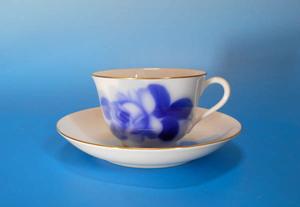 大倉陶園 8211 ブルーローズ ティー・コーヒー 碗皿  カップ&ソーサー 同梱c可
