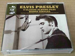 エルヴィスプレスリー ELVIS PRESLEY 8 CLASSIC ALBUMS PLUS BONUS SINGLES 4枚組CD f656