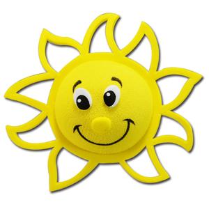 サンシャイン アンテナボール アンテナトッパー 車 目印 飾り カスタム USA 太陽 おひさま アクセサリー アメ車 グッズ 定形外