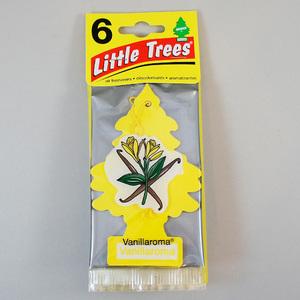 お得な6枚組 リトルツリー バニラ ロマ Little Trees 芳香剤 エアフレッシュナー 車 部屋 吊り下げ USA【メール便 送料無料】