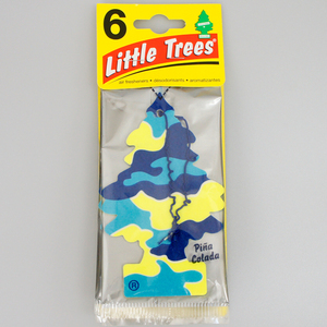 お得な6枚組 リトルツリー ピナコラーダ Little Trees 芳香剤 エアフレッシュナー 車 部屋 吊り下げ USA【メール便 送料無料】