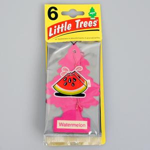 お得な6枚組 リトルツリー ウォーター メロン Little Trees 芳香剤 エアフレッシュナー 車 部屋 吊り下げ USA【メール便 送料無料】