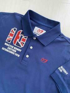 マスターバニー 半袖 ポロシャツ イギリス 国旗 青 MASTER BUNNY EDITION パーリーゲイツ