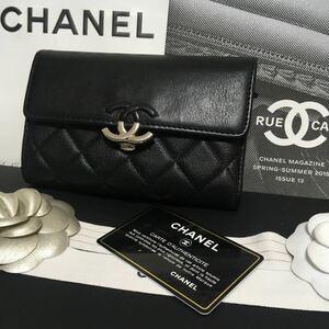 rin様専用 美品 シャネル ダブルココ フラップウォレット 三つ折り財布 正規品