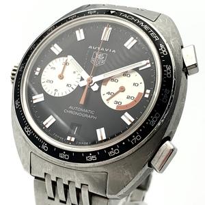 ●最終出品 1円~ タグホイヤー Tag Heuer オータヴィア クロノグラフ デイト CY2111 メンズ 自動巻き 黒文字盤 腕時計 CD28871233