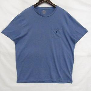 ポロ ラルフローレン ビッグ サイズ XL Tシャツ 半袖 ワンポイント ロゴ ポケット コットン ブルー POLO RALPH LAUREN 古着 1AU0809