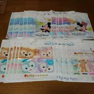 Disney sea ディズニー ショップ袋 ダッフィー ミッキー ミニー Sサイズ 20枚