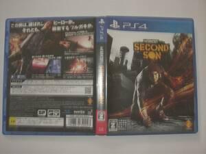 送料無料 PS4 プレイステーションⅣ ソフト インファマスセカンドサン IN FAMOUS SECOND SON ゴーストオブツシマスタッフ 14年製