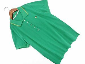 KUMIKYOKU 組曲 MACON&LESQUOY 刺繍 ポロシャツ size7/緑 ■◆ ☆ bha3