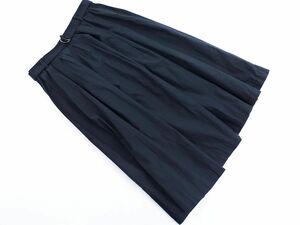 ネコポスOK UNITED ARROWS ユナイテッドアローズ ベルト フレア スカート size38/濃紺 ■◆ ☆ bha9