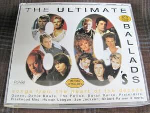 A#1368◆2CD◆ ULTIMATE 80s BALLADS Queen David Bowie Police Duran Duran Pretenders Fleetwood Mac Smokey Robinson 525 449-2