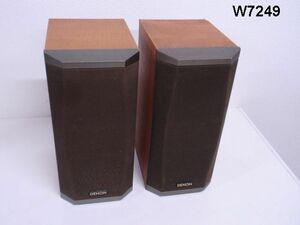W7249S 音出しOK!DENON デノン 小型スピーカー SC-V11 2個セット ペア 木目 音響機器 オーディオ