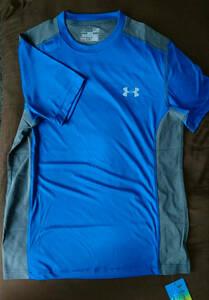◎アンダーアーマー ヒートギア トレーニングシャツ SM ブルー アーマーベント S プラクティス シャツ 半袖
