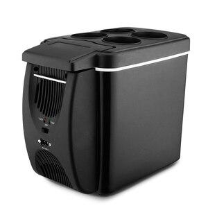 ミニ冷蔵庫冷凍庫カー冷蔵庫 6L ポータブルクーラー 12V 低ノイズ多機能抗腐ったデュアル使家庭キャンプ